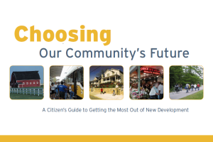 choosing our community
